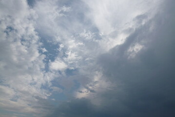 Sky Clouds White Wispy Storm Front Gray