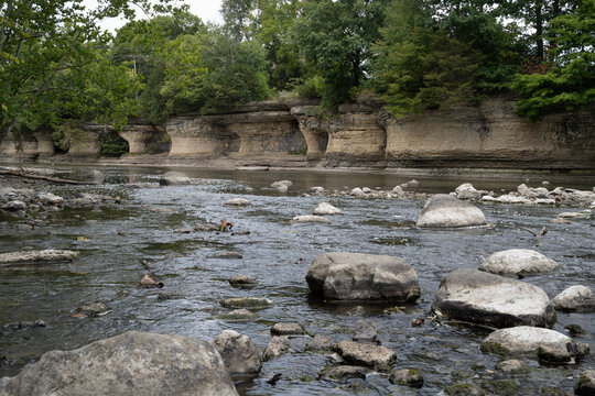 The seven pillars rock formation on the Mississinewa River.
