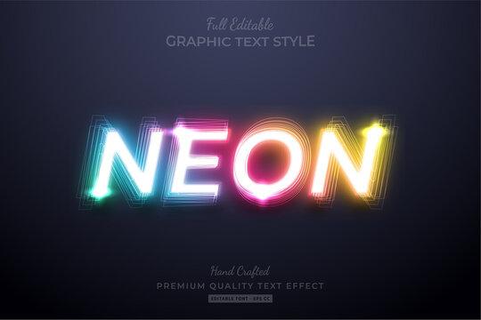 Neon Gradient Editable Text Style Effect Premium