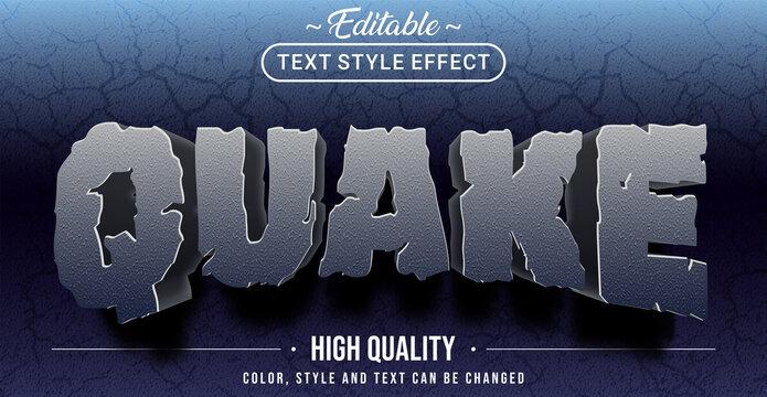 Editable text style effect - Quake theme style.