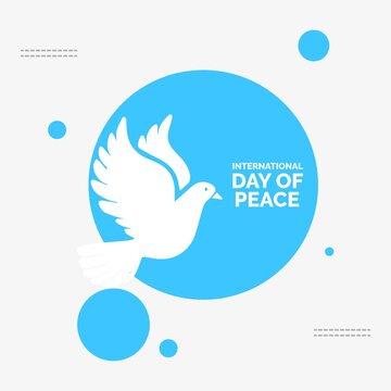 international peace day Illustration Hand written lettering Vector