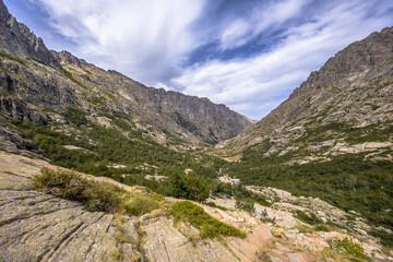 track through Restonica gorge