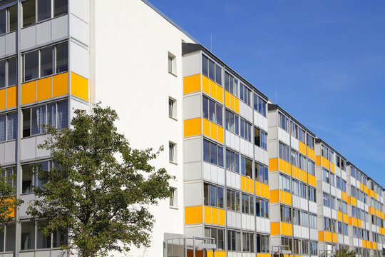 Panel building with modern facade in Berlin - Germany