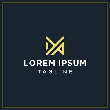 ya or yp monogram logo design template