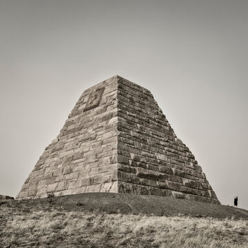 Ames Monument, a large pyramid at the highest point on the transcontinental railroad completed in 1860.