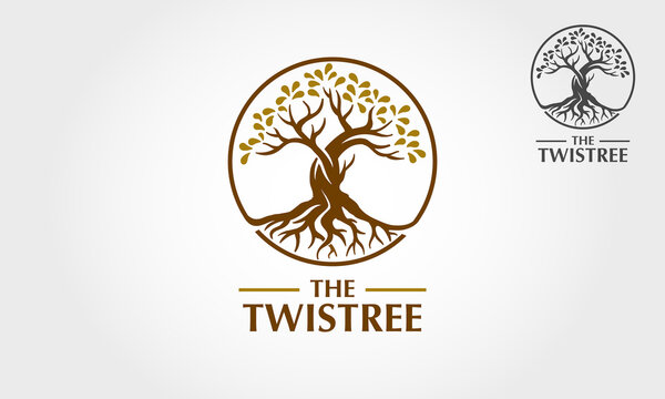 The Twistree Vector Logo Template.  The main symbol of the logo is a tree, this logo symbolizes a togetherness, protection, peace, growth, trust, unity, care, nature, ecology and environment.