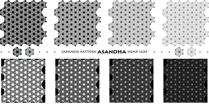 Japanese pattern ASANOHA hemp leaf_seamless pattern_c01