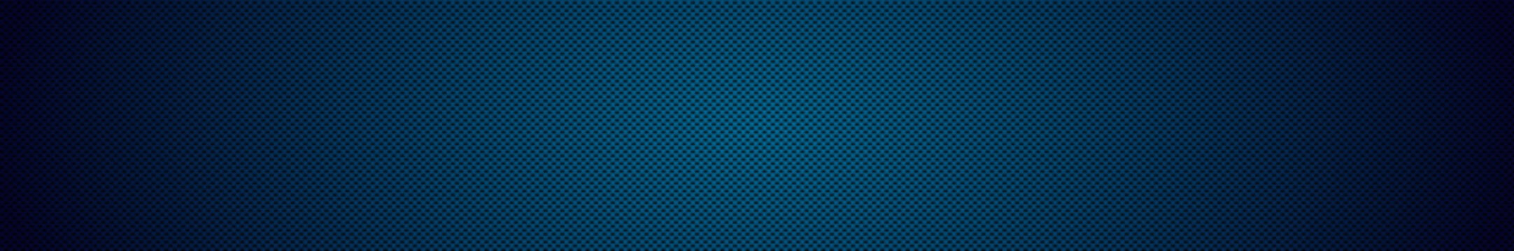 Panoramic texture of black and blue carbon fiber