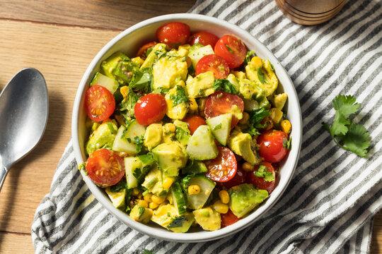 Healthy Organic Avocado Tomato Salad