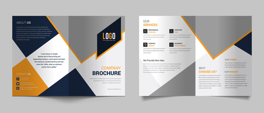 Modern bifold brochure template for your business