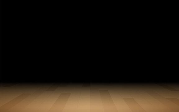 wooden floor in the dark room