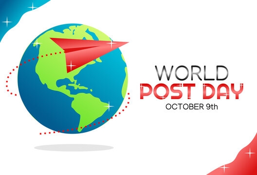 Vector graphic of world post day good for world post day celebration. flat design. flyer design.flat illustration.