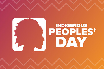 Fototapeta Indigenous Peoples Day. Holiday concept. Template for background, banner, card, poster with text inscription. Vector EPS10 illustration. obraz