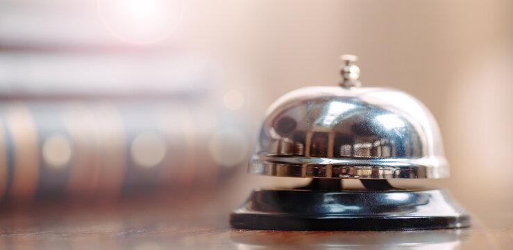 Shot of a Desk Bell in hotel.