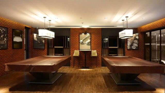Loft cafe & snooker club decoration design