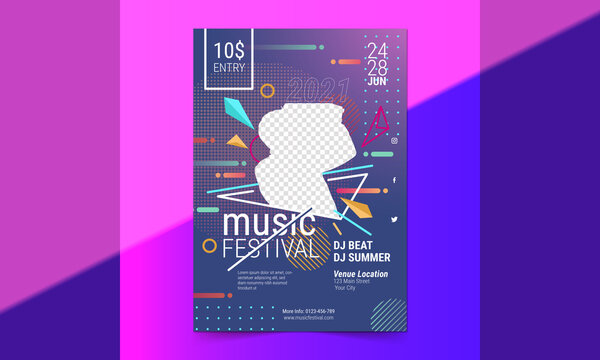 Night dance party, music night, poster, template. Electro style concert disco club party, event, flyer invitation, pool, beach, summer, halloween, new year flyer design