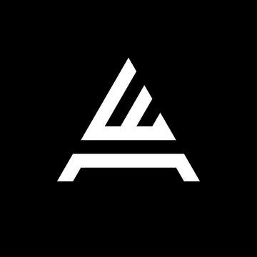 Letter AW WA logo template