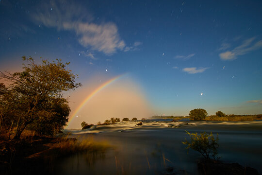 Moonbow in Victoria Falls National Park