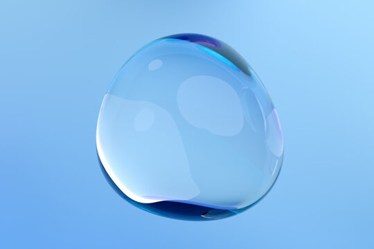 Abstract 3d render of a bubble, modern background design