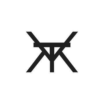 VTM letter logo design vector