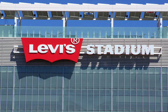 Levi's Stadium Sign on side of the Building