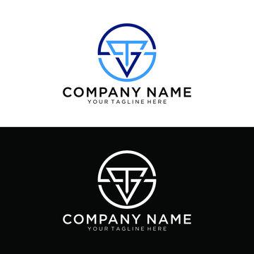 letter TS, TSS, or ST logo design. Hexagon vector template.