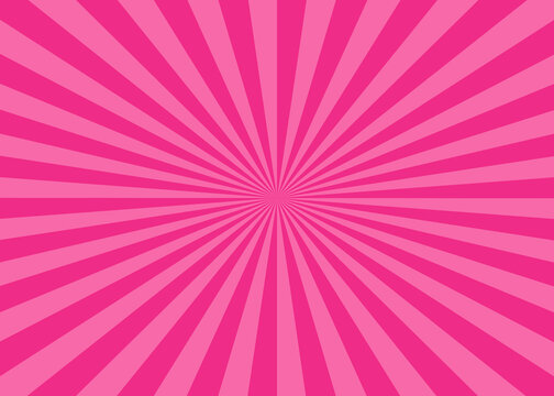 Pink sunbrust background.Ray. radial .abstract wallpaper.