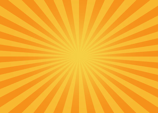 Yellow-orange sunshine colorful vector background. Abstract orange wallpaper for banner, ad, social media and template.