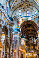Interior of Monopoli Cathedral, Apulia, Italy