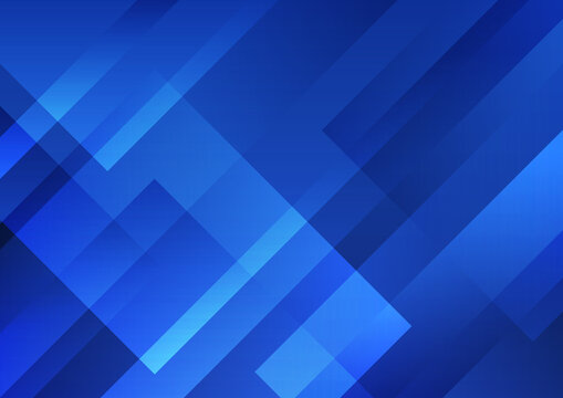 Abstract blue geometric shape overlay layer background technology style.
