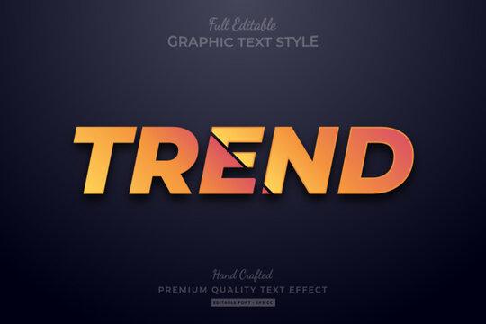 Orange Trend Editable Text Style Effect Premium