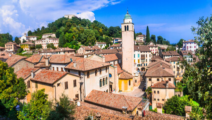 Most beautiful medieval villages (borgo) of Italy - Asolo in Veneto region