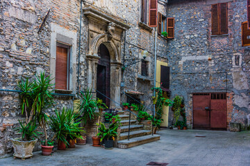 Fototapeta Architecture of Narni, an ancient hilltown of Umbria, Italy