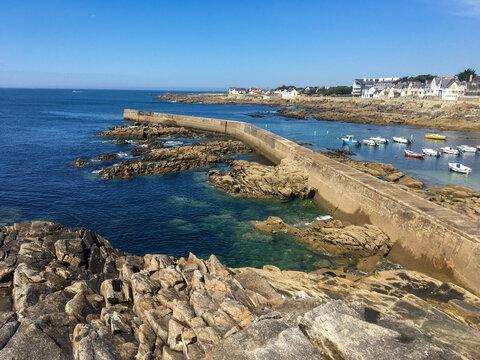 Beautiful french coastline under blue sky - Britain