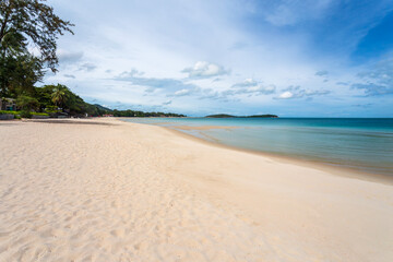 White sand at Chaweng Beach, Koh Samui, Thailand. After Covid had no tourists make the sea complete ecological recovery ,nature balance