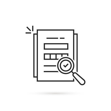linear audit icon like assess result