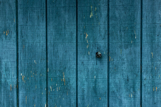 Old weathered blue wood