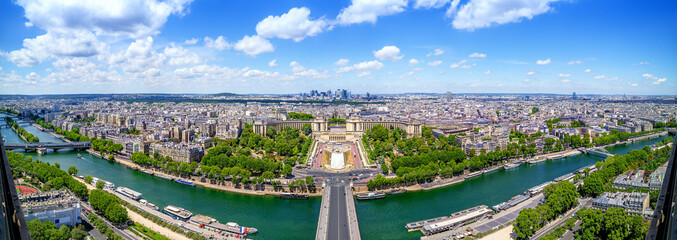 panoramic view at the city center of paris, france