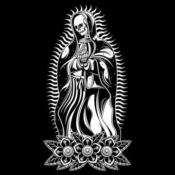pray skull tattoo