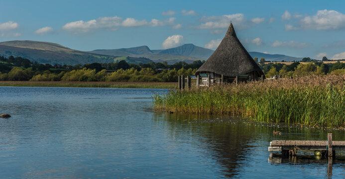 The Crannog, Llangorse Lake, Brecon, Wales, UK
