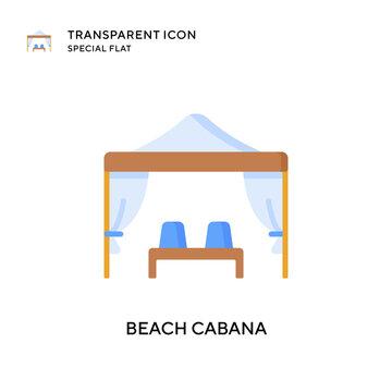Beach cabana vector icon. Flat style illustration. EPS 10 vector.