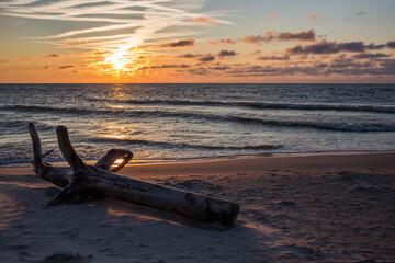 Morze bałtyckie zachód słońca Sunset