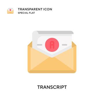Transcript vector icon. Flat style illustration. EPS 10 vector.