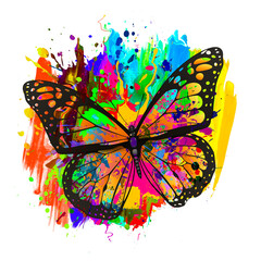 abstract background art with butterfly