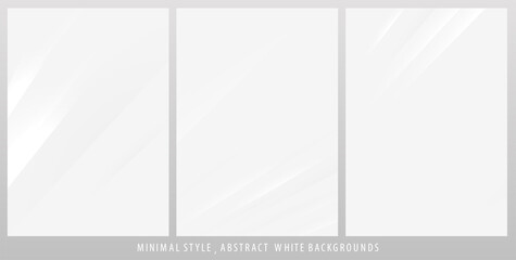 Set of abstract perspective lines backgrounds. Ideal for brochure & flyer cover template, website landing page and business card design.