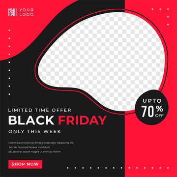 Black Friday sale social media template