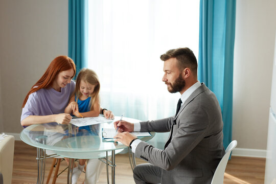 single lonely mother with kid girl and psychologist, husband left his family, went to another mistress. sad depressed redhead woman get support and help by professional therapist