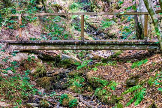 Holzbrücke im Jammertal