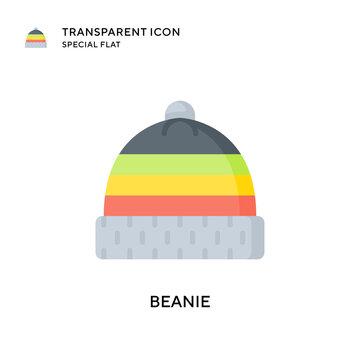 Beanie vector icon. Flat style illustration. EPS 10 vector.