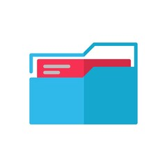 folder flat Icon. bank and financial vector illustration on white background